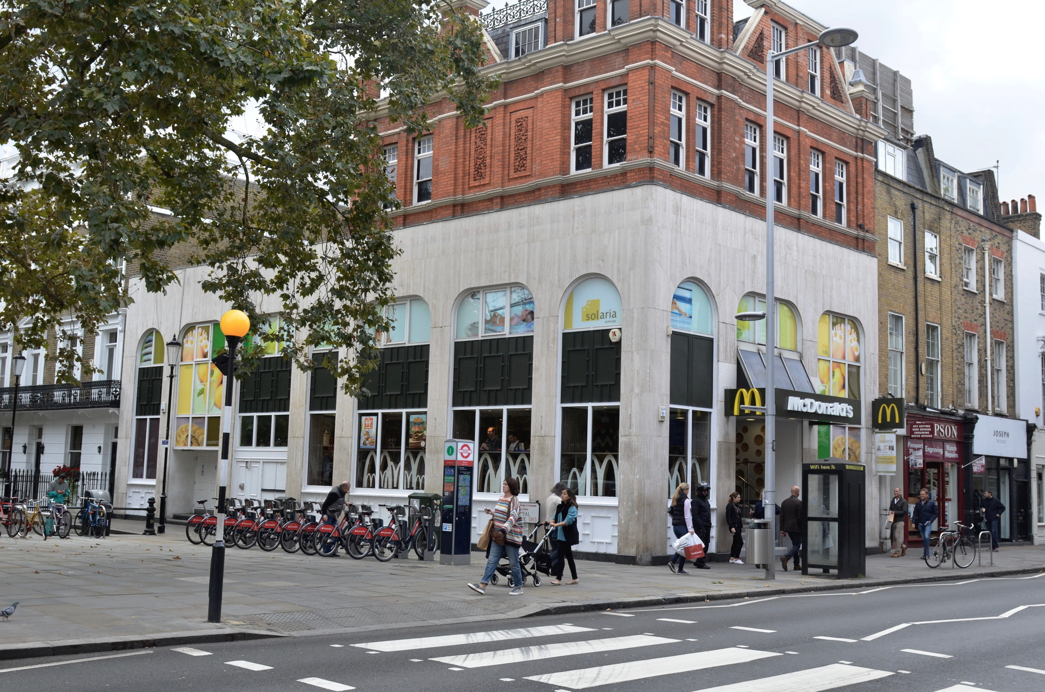 Ehemalihger Chelsea Drug Store im Swinging London