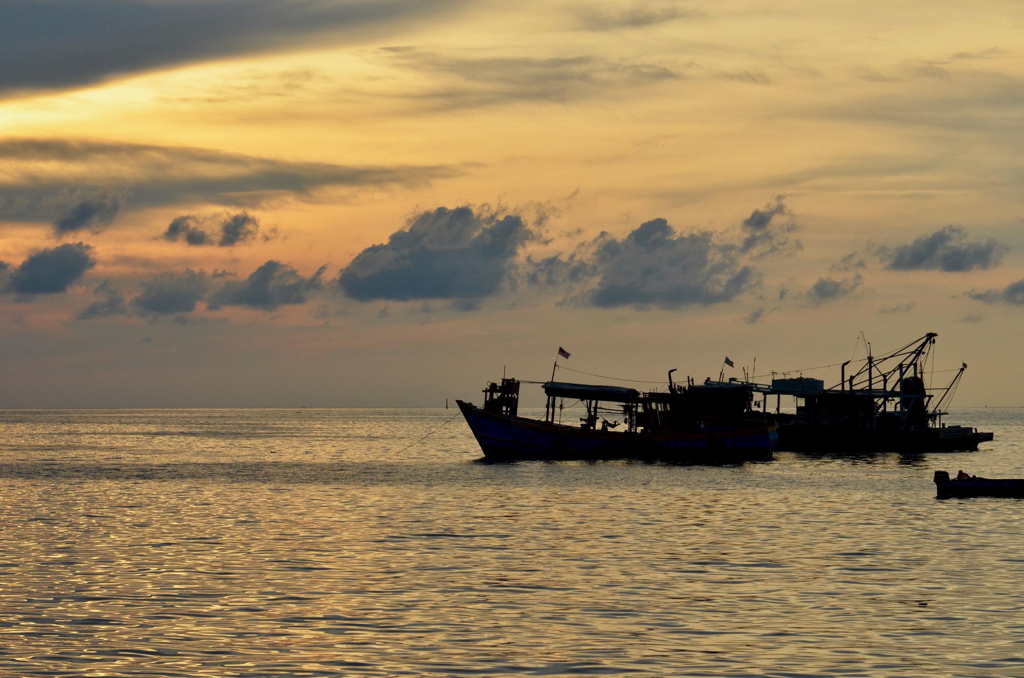 Großstadtdschungel-Malaysia-Borneo-Kota-Kinabalu-Sonnenuntergang-Borneo